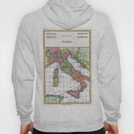 Vintage Map of Italy (1780) Hoody