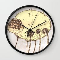 spider Wall Clocks featuring Spider by Of Lions And Lambs