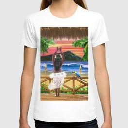 Hawaiian Sunset Hula Dancer T-shirt