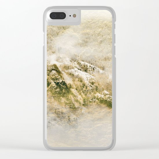 Golden Winter Forest 3 Clear iPhone Case