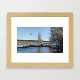 Far end of the Headwaters Framed Art Print
