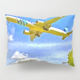 Airliner Pop Art Pillow Sham