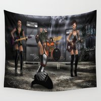 band Wall Tapestries featuring Garage Band by gypsykissphotography