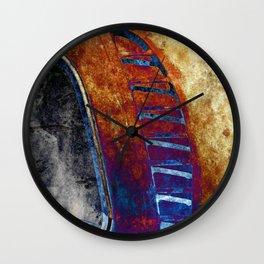 Rusted Classic Minivan Wall Clock