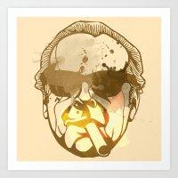jack nicholson Art Prints featuring Jack Nicholson by BIG Colours