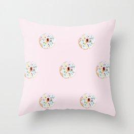 Blushing donuts Throw Pillow