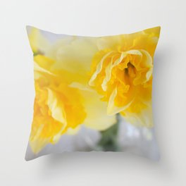 Spring Greeting Throw Pillow