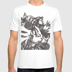 Rosas y espinas Mens Fitted Tee SMALL White