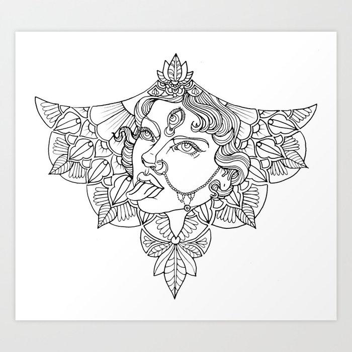Kali Goddess Art Print By Meaganmoroney
