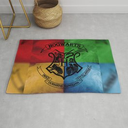 Wizard School House Crest HP Rug