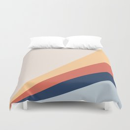 Abstract modern geometrical print color Duvet Cover