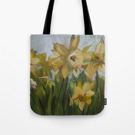 Clouds of Daffodils Tote Bag