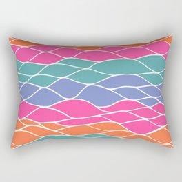 Multicolored Waves Rectangular Pillow