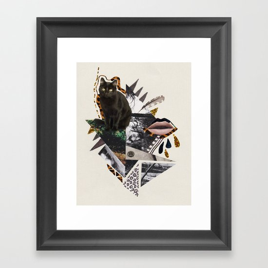 AYAHUASCA CAT Framed Art Print