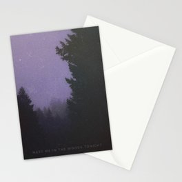Meet Me In The Woods Tonight Stationery Cards