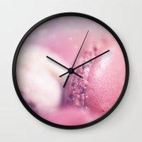 macaron Wall Clocks featuring Macaron by nailafateen