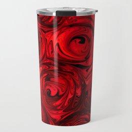 Red Apple Roses Abstract Travel Mug