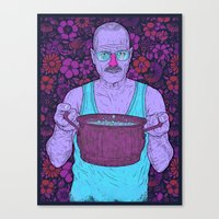 cook Canvas Prints featuring Cook (fiolet) by Lime