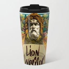 lion warrior - cara dura! Travel Mug
