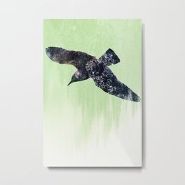 Wet bird Metal Print