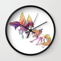 exo Wall Clocks featuring Slipstream & Exo by Huenchunb