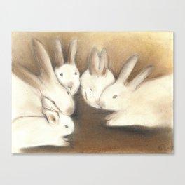 A Conspiracy of Rabbits Canvas Print