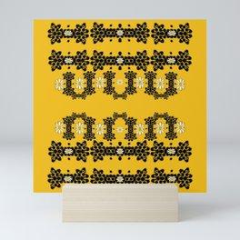 Ornate circulate is festive in  flower decorative Mini Art Print