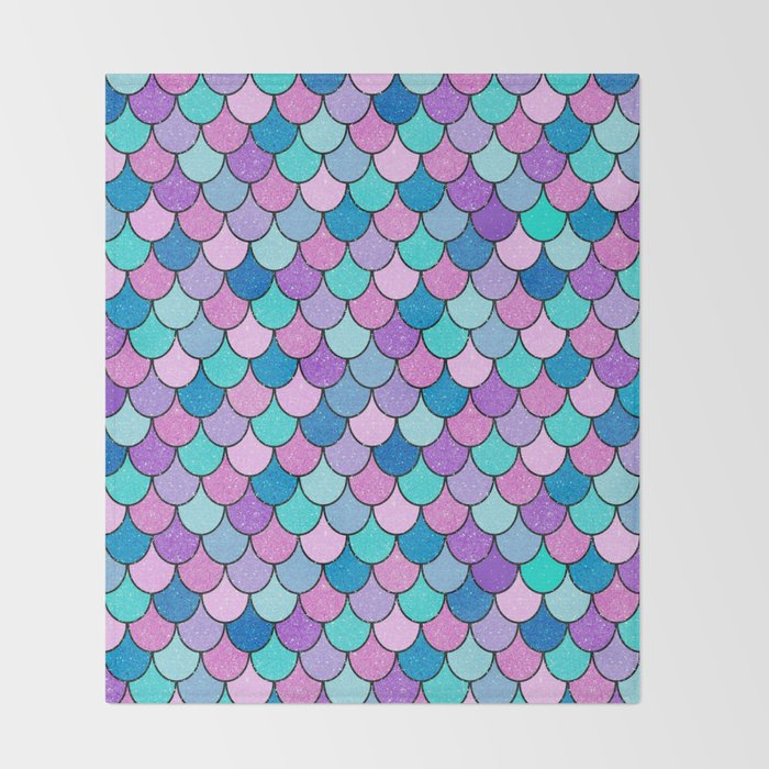 Sparkle Scales Throw Blanket