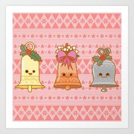 Xmas Bells Art Print