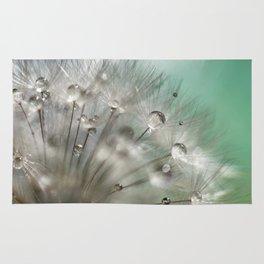 Silver Mint Dandelion Rug