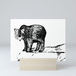 Into The Wild: Grizzly Bear Drawing Mini Art Print