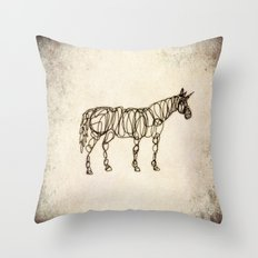 Scribbled Unicorn Throw Pillow