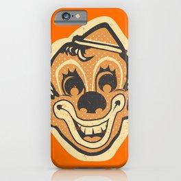 Retro Creepy Halloween Clown Face Mask iPhone Case