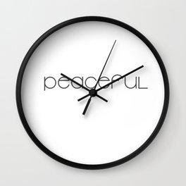 Peaceful (black) T-Shirt & Pillow & Tote Bag Wall Clock