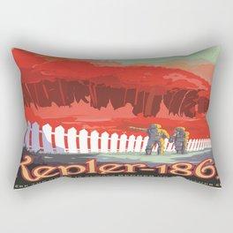 Kepler-186 : NASA Retro Solar System Travel Posters Rectangular Pillow