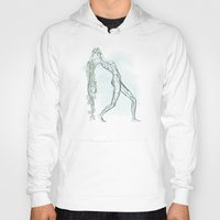 aquarius Hoodies featuring Aquarius by Vibeke Koehler