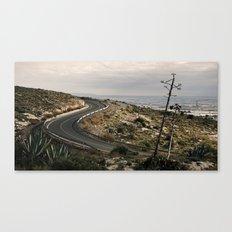 Al fondo Cabo de Gata. Canvas Print