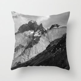 Patagonian Mountains Throw Pillow