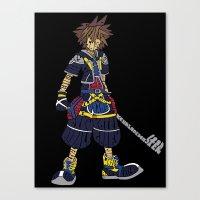 kingdom hearts Canvas Prints featuring Kingdom Hearts: Sora by NeleVdM