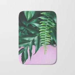 pink and foliage ii Bath Mat