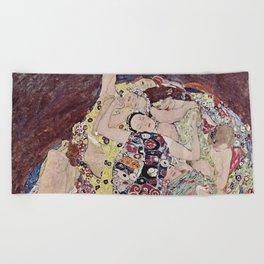 THE VIRGINS - GUSTAV KLIMT Beach Towel