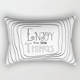 Enjoy The Little Things - Word Font Rectangular Pillow