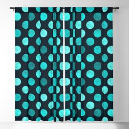 Watercolor Dots Pattern IV Blackout Curtain