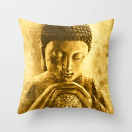 Buddha Gold Throw Pillow