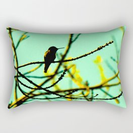 hummingbird in the ash tree Rectangular Pillow