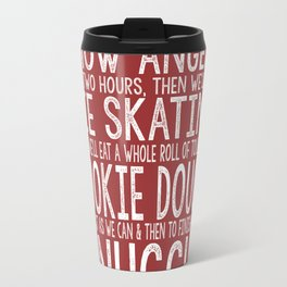 ELF CHRISTMAS MOVIE To-Do List Snow Angels Skating Cookie Dough Snuggle Buddy The Elf Will Ferrell Travel Mug