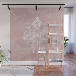 Blush mandala Wall Mural