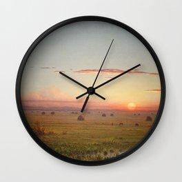 Martin Johnson Heade - Ipswich Marshes Wall Clock