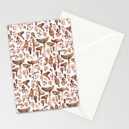 Watercolor Mushrooms Stationery Cards