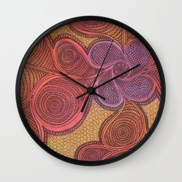 Free Your Mind in Color Wall Clock